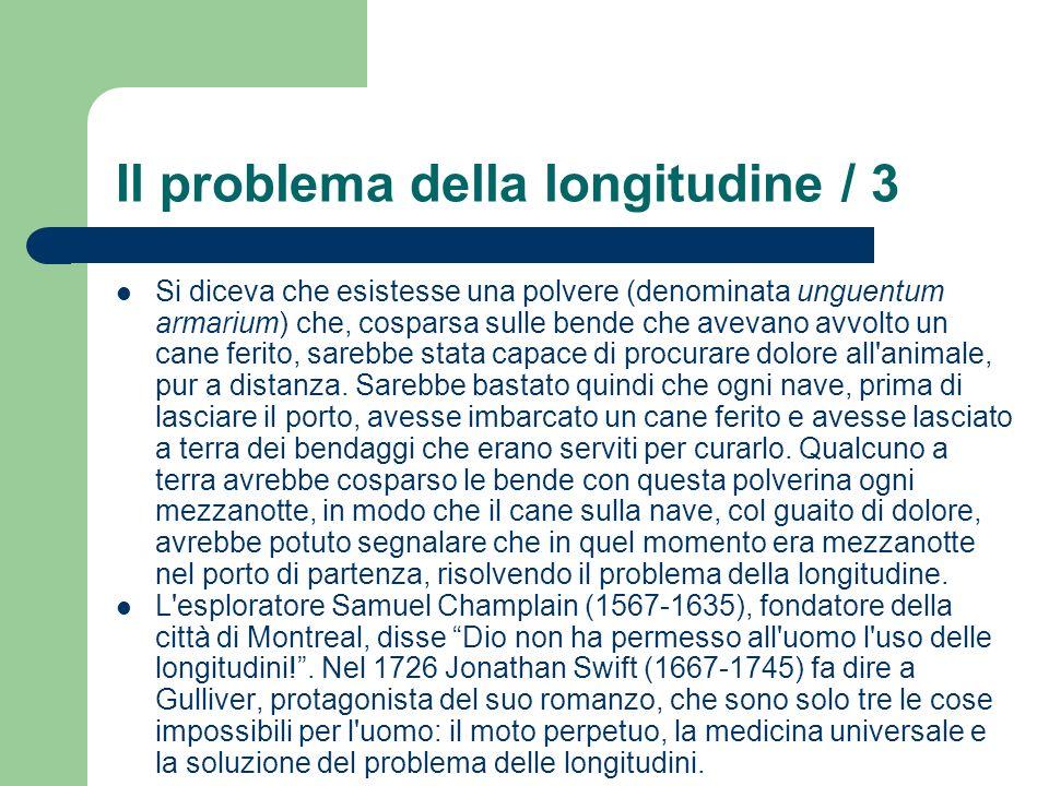 Il problema della longitudine / 3