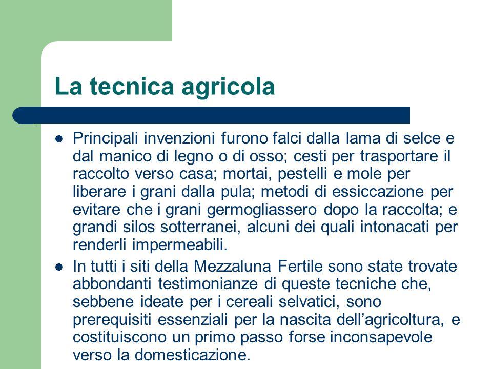 La tecnica agricola