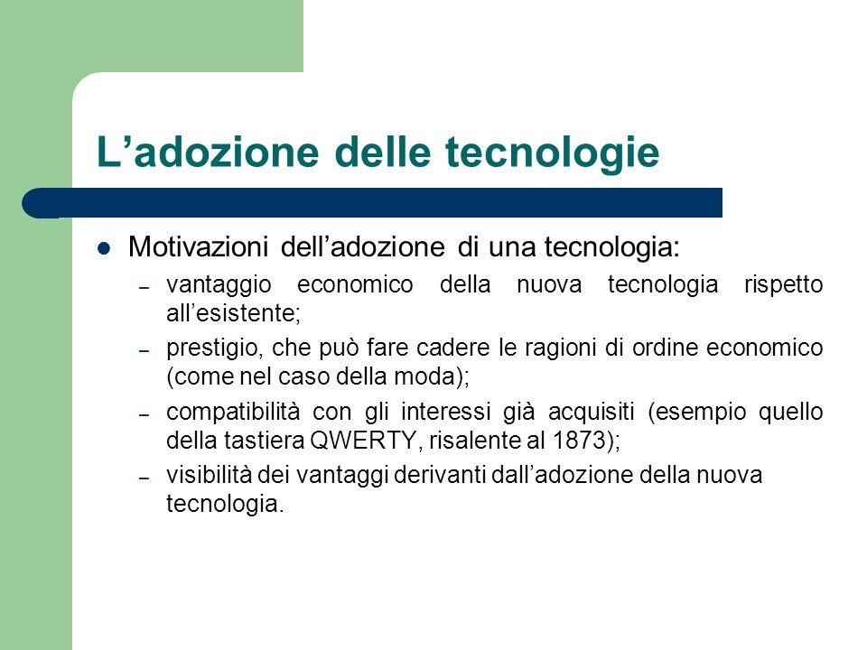 L'adozione delle tecnologie