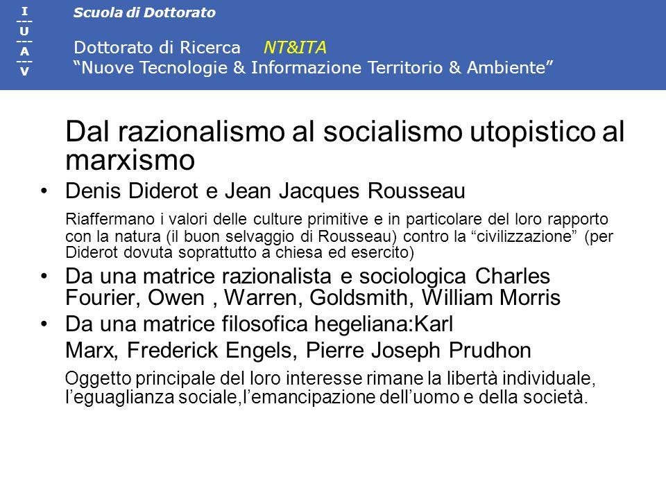 Dal razionalismo al socialismo utopistico al marxismo