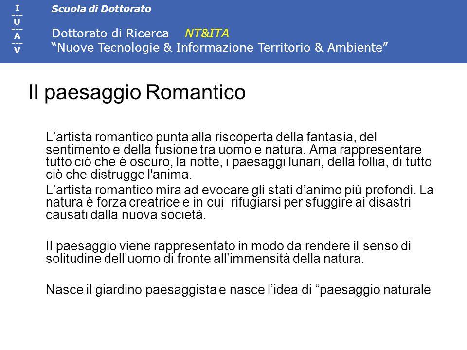 Il paesaggio Romantico