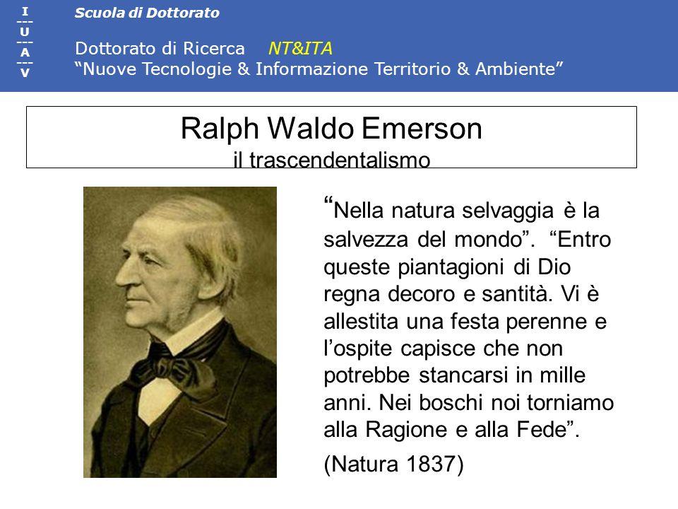 Ralph Waldo Emerson il trascendentalismo