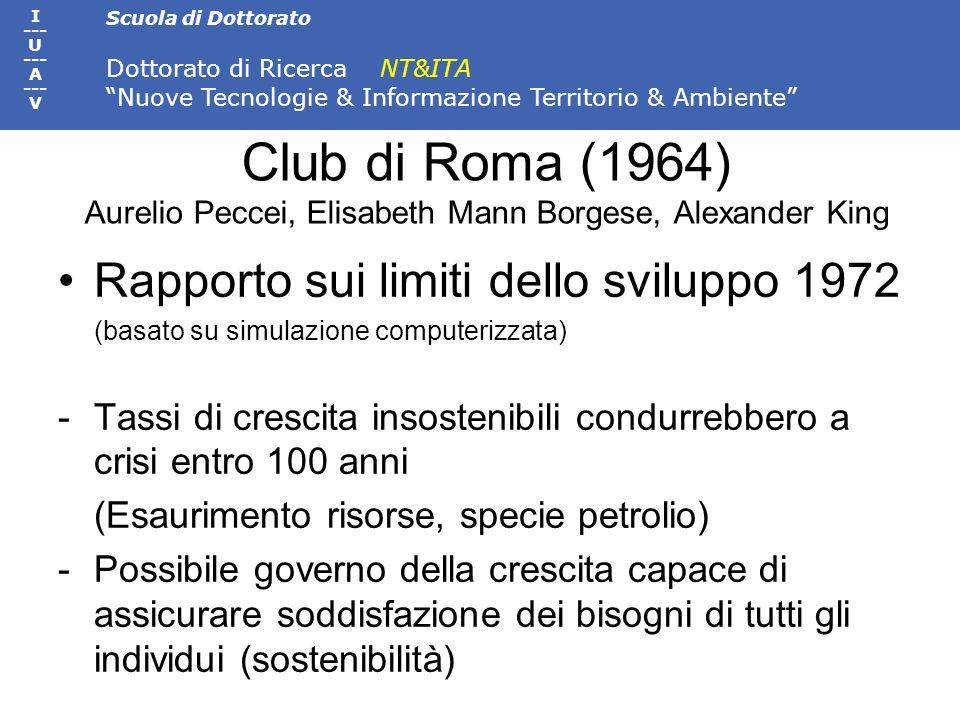 Club di Roma (1964) Aurelio Peccei, Elisabeth Mann Borgese, Alexander King
