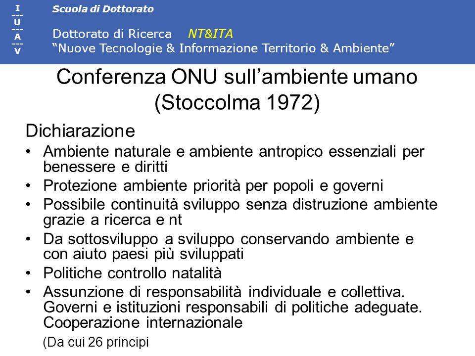 Conferenza ONU sull'ambiente umano (Stoccolma 1972)