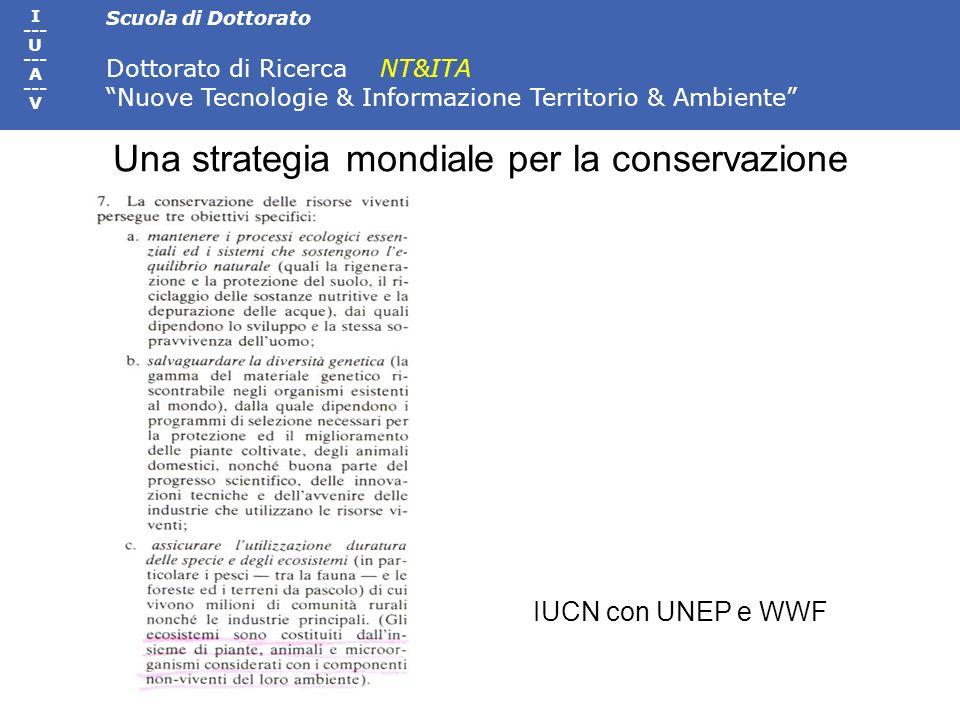 Una strategia mondiale per la conservazione