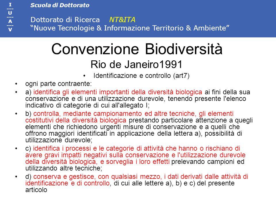 Convenzione Biodiversità Rio de Janeiro1991