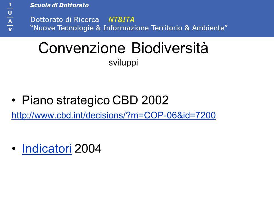 Convenzione Biodiversità sviluppi