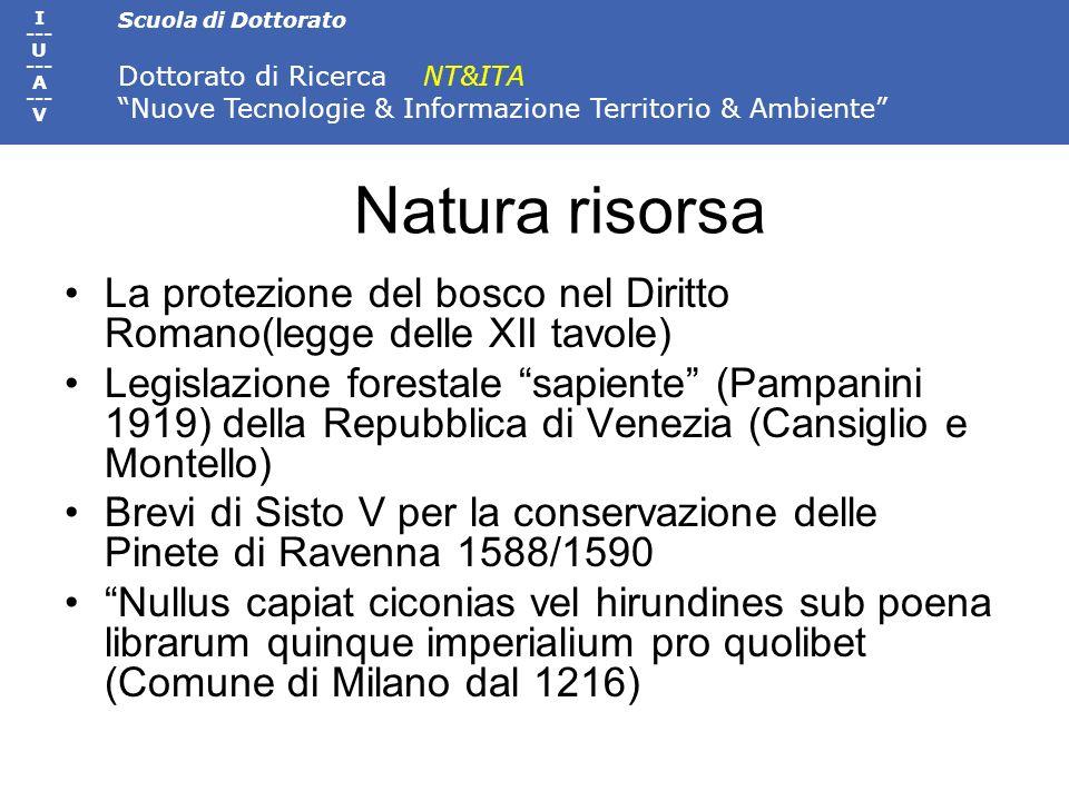 Natura risorsa La protezione del bosco nel Diritto Romano(legge delle XII tavole)