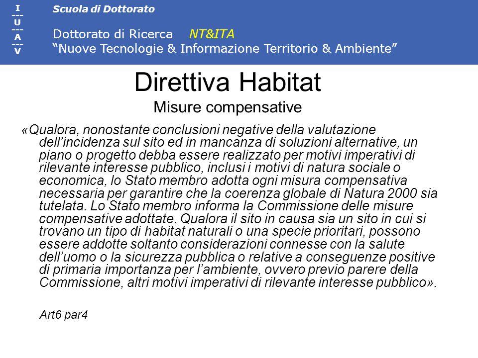 Direttiva Habitat Misure compensative