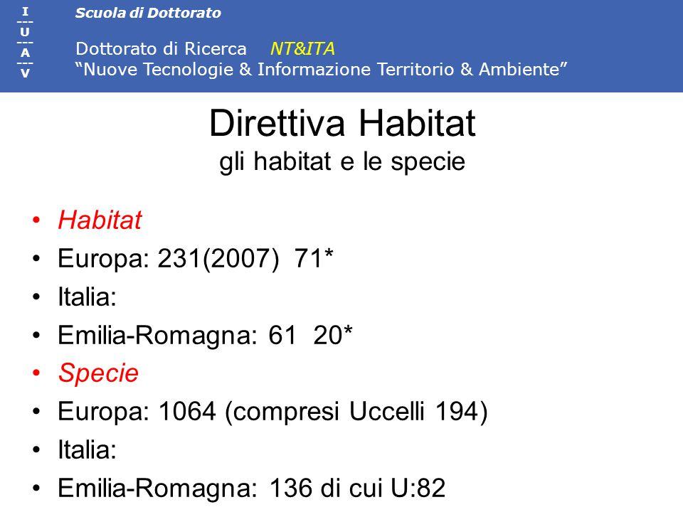 Direttiva Habitat gli habitat e le specie