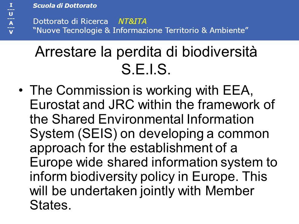 Arrestare la perdita di biodiversità S.E.I.S.