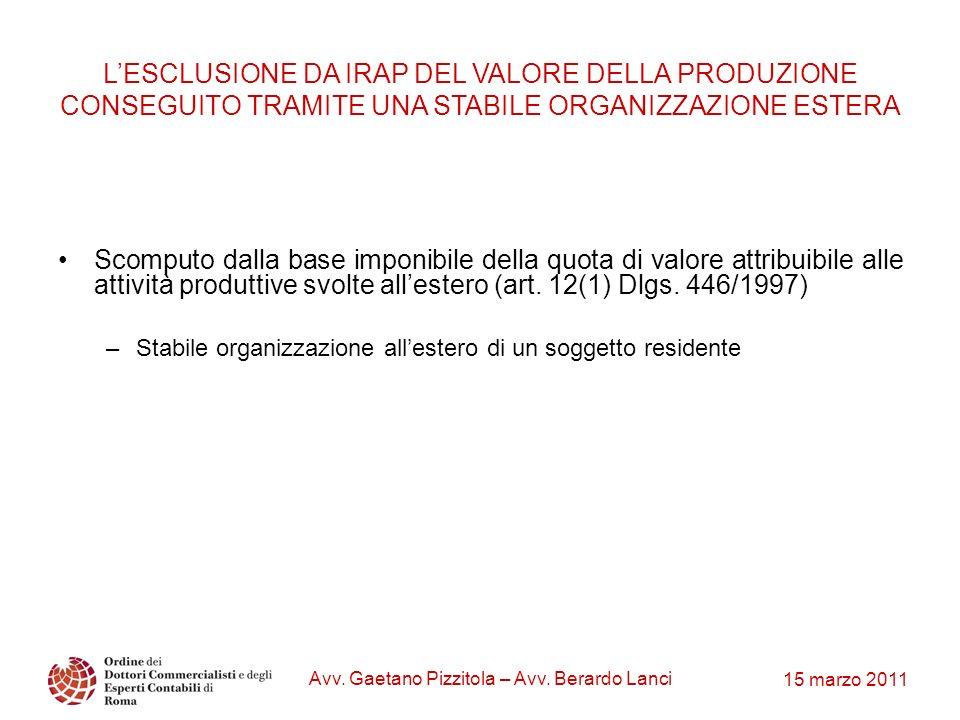 Avv. Gaetano Pizzitola – Avv. Berardo Lanci