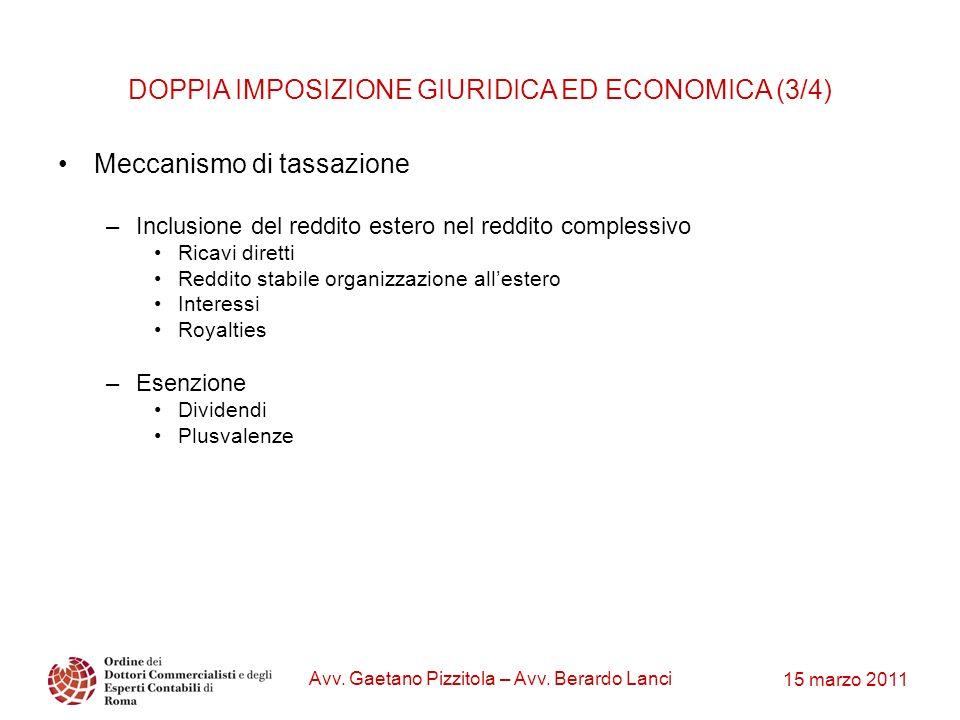 DOPPIA IMPOSIZIONE GIURIDICA ED ECONOMICA (3/4)