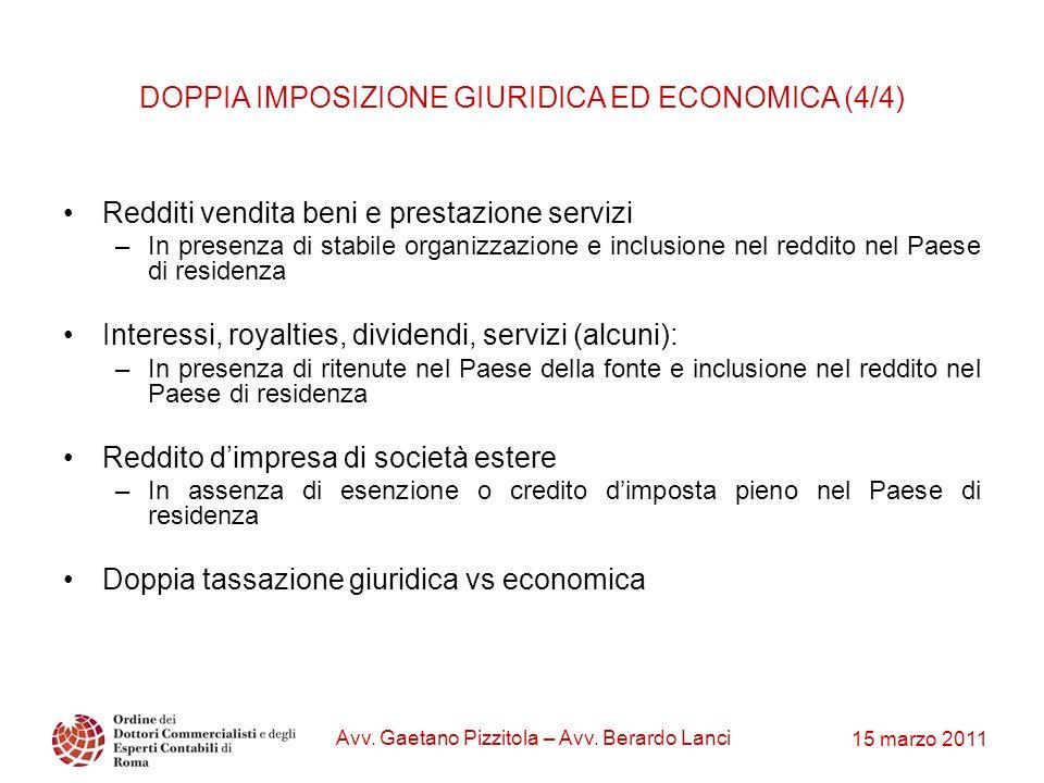 DOPPIA IMPOSIZIONE GIURIDICA ED ECONOMICA (4/4)