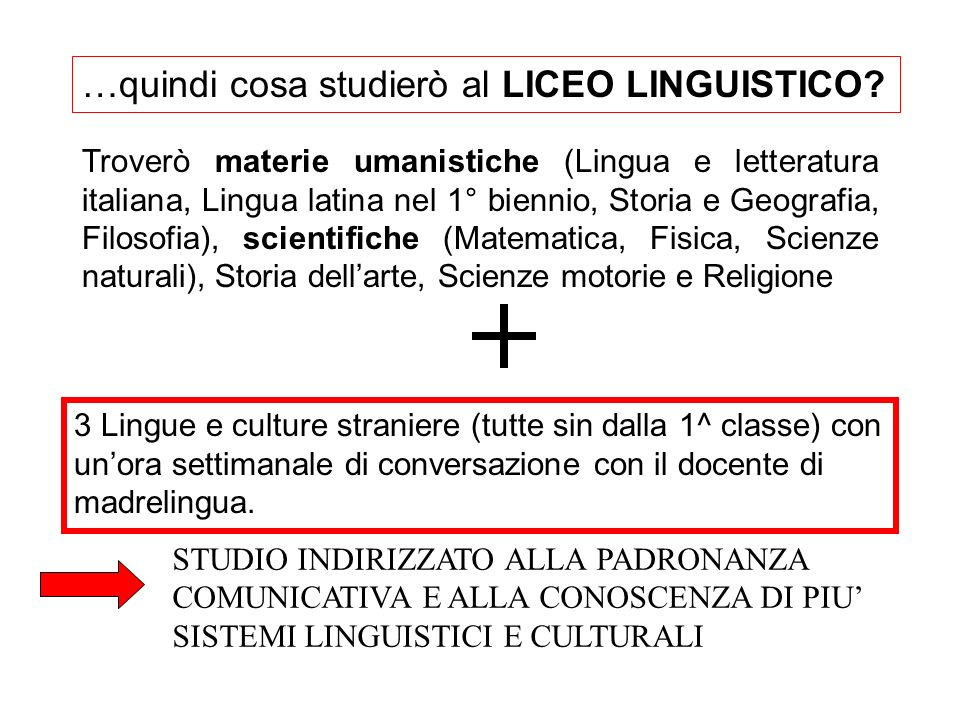 …quindi cosa studierò al LICEO LINGUISTICO