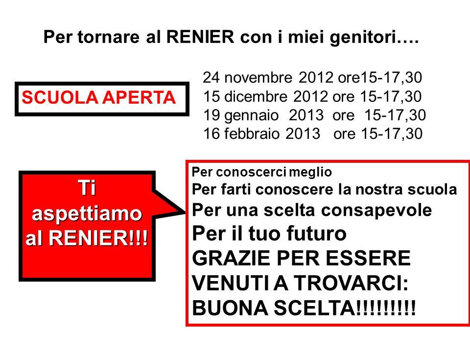 Ti aspettiamo al RENIER!!!