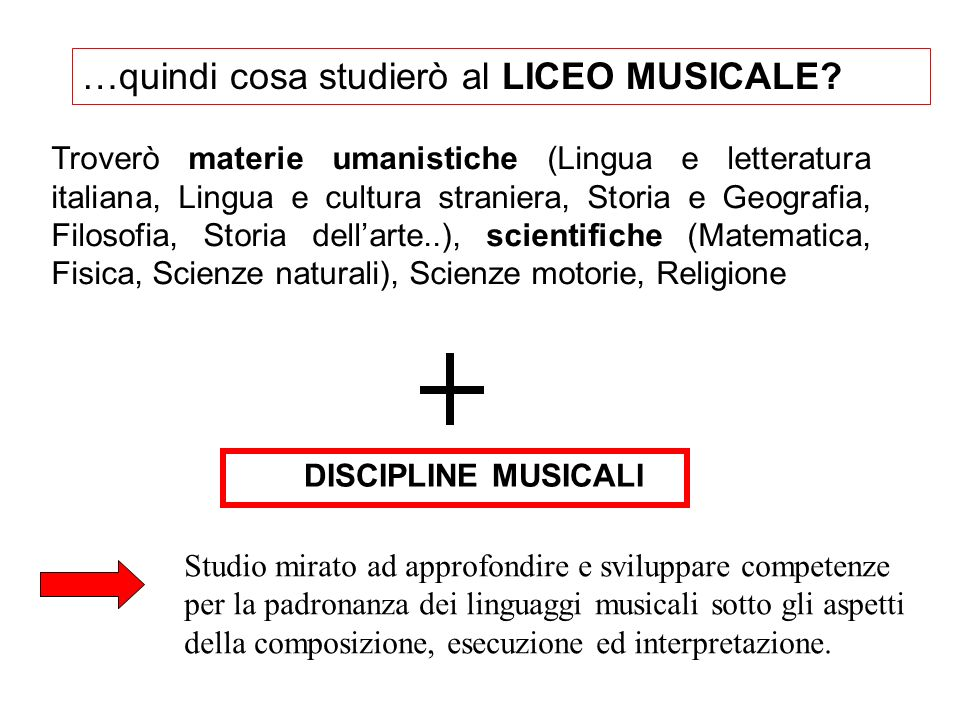 …quindi cosa studierò al LICEO MUSICALE
