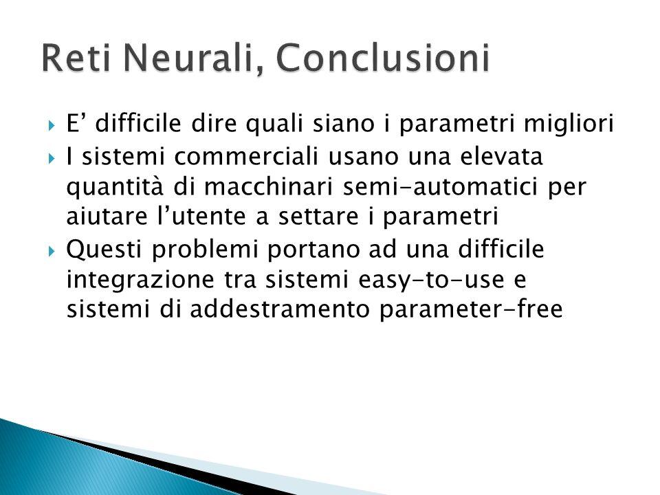 Reti Neurali, Conclusioni