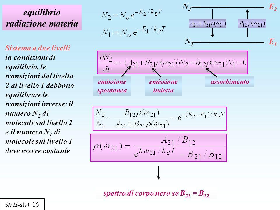 equilibrio radiazione materia