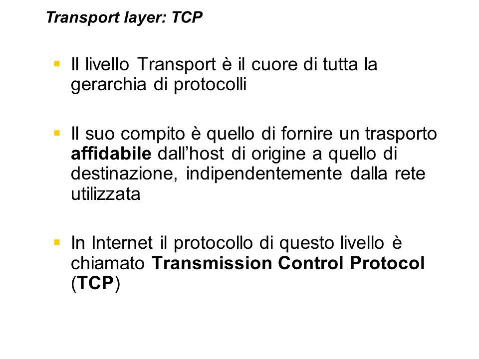 Il livello Transport è il cuore di tutta la gerarchia di protocolli