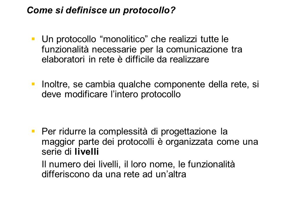 Come si definisce un protocollo