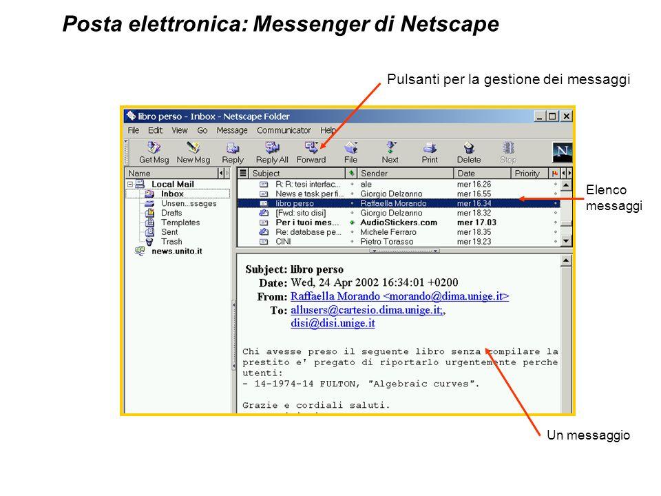 Posta elettronica: Messenger di Netscape