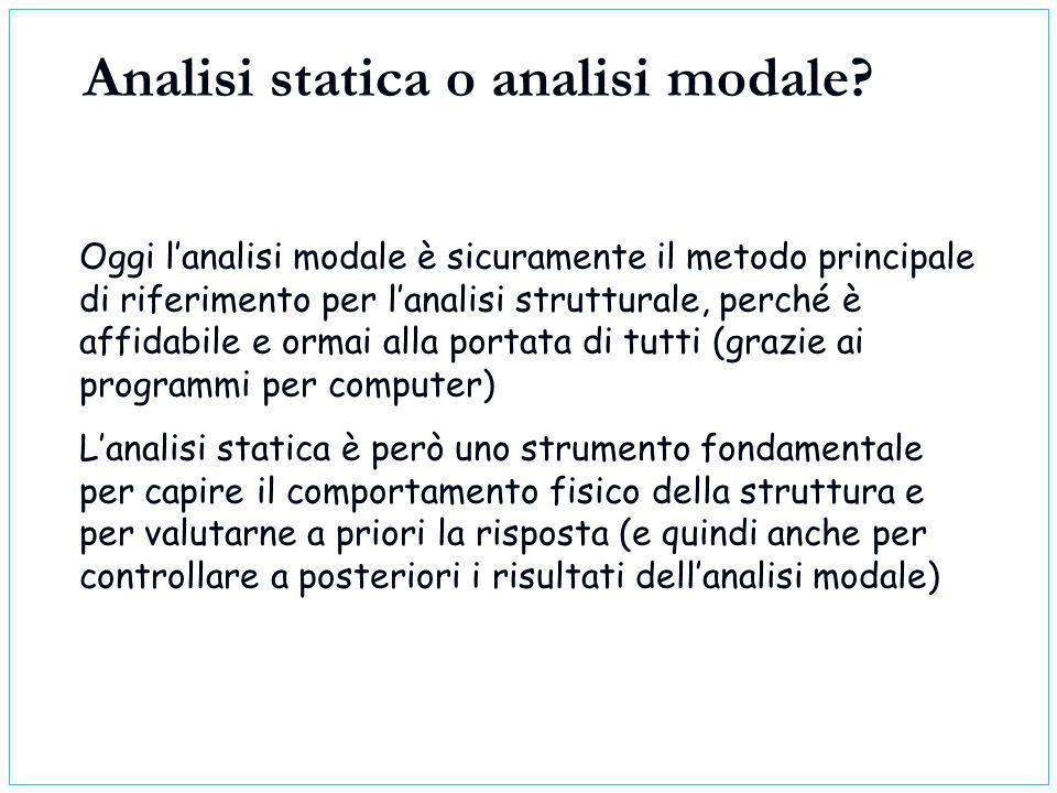 Analisi statica o analisi modale
