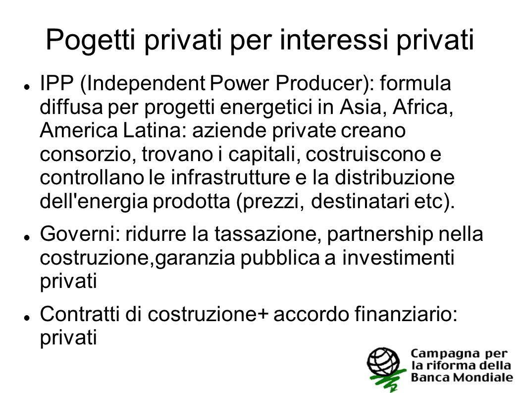 Pogetti privati per interessi privati