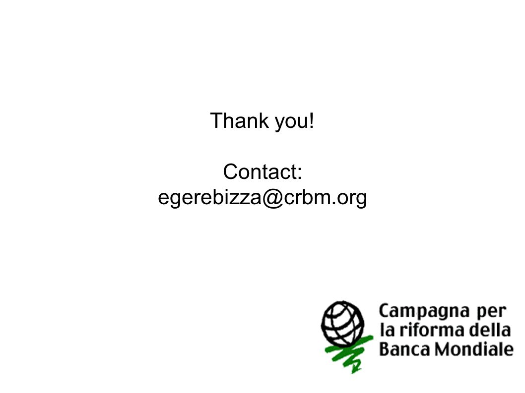 Thank you! Contact: egerebizza@crbm.org