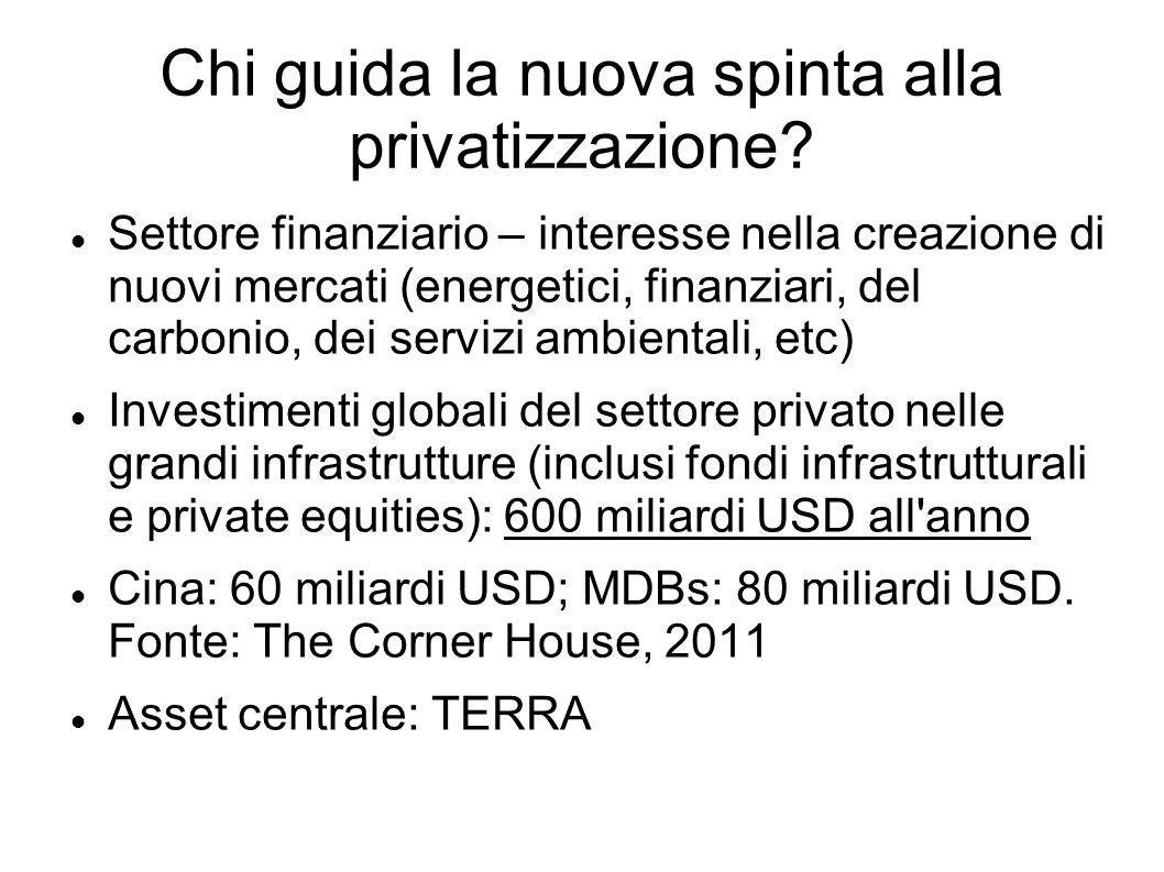 Chi guida la nuova spinta alla privatizzazione