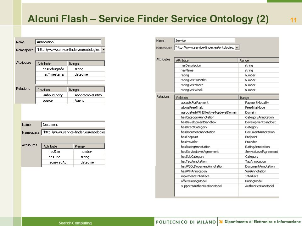 Alcuni Flash – Service Finder Service Ontology (2)