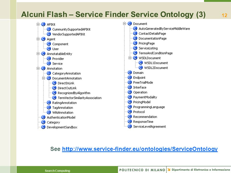 Alcuni Flash – Service Finder Service Ontology (3)
