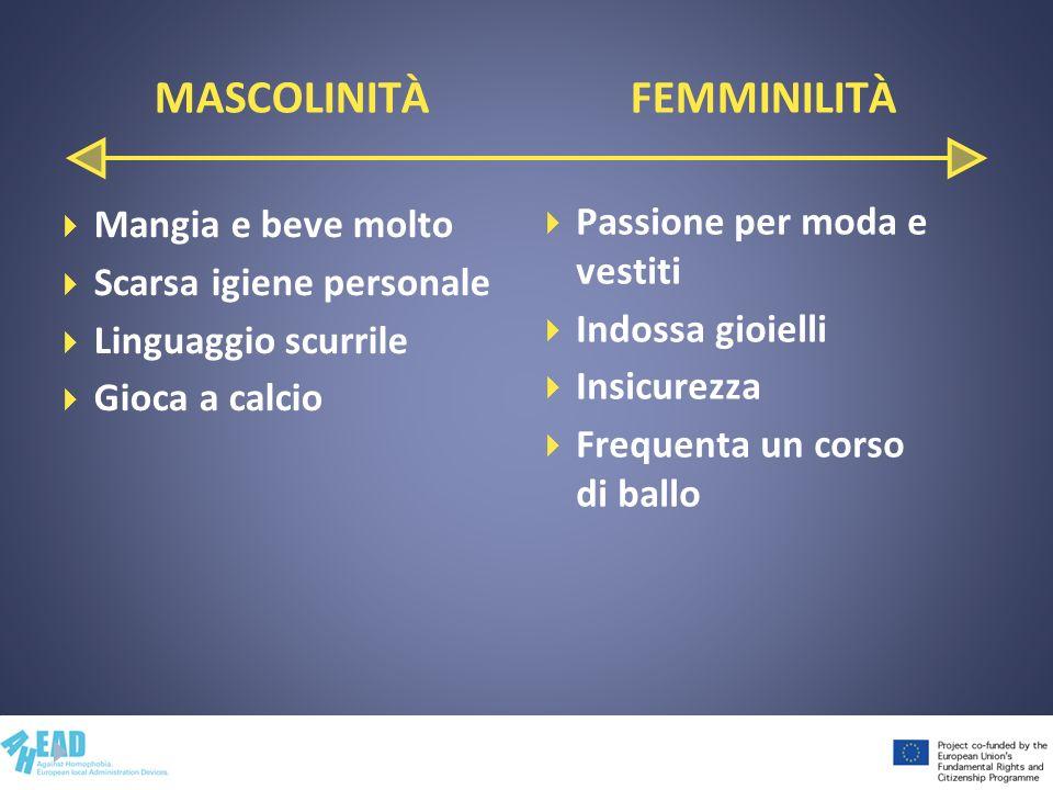MASCOLINITÀ FEMMINILITÀ