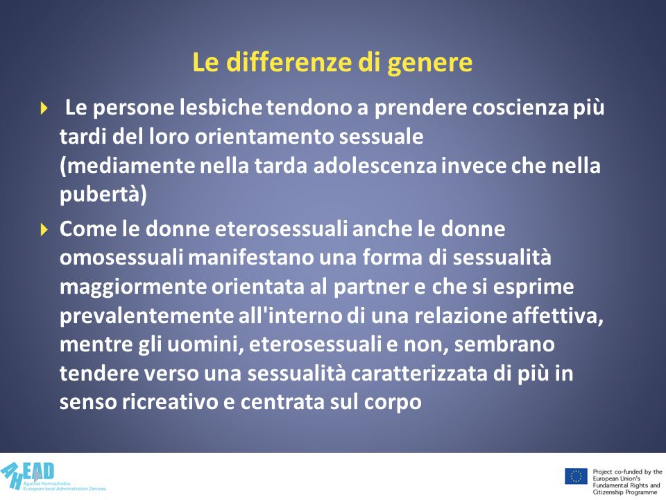 Le differenze di genere