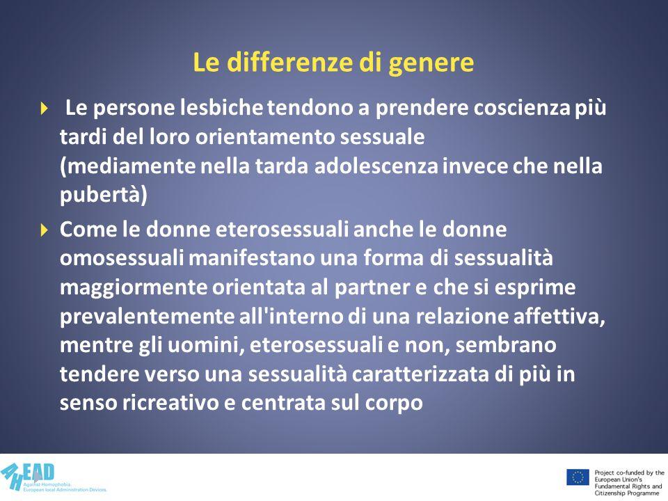 Le differenze di genere