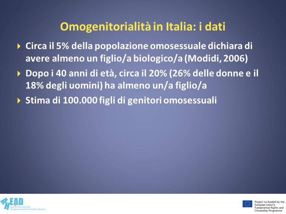 Omogenitorialità in Italia: i dati