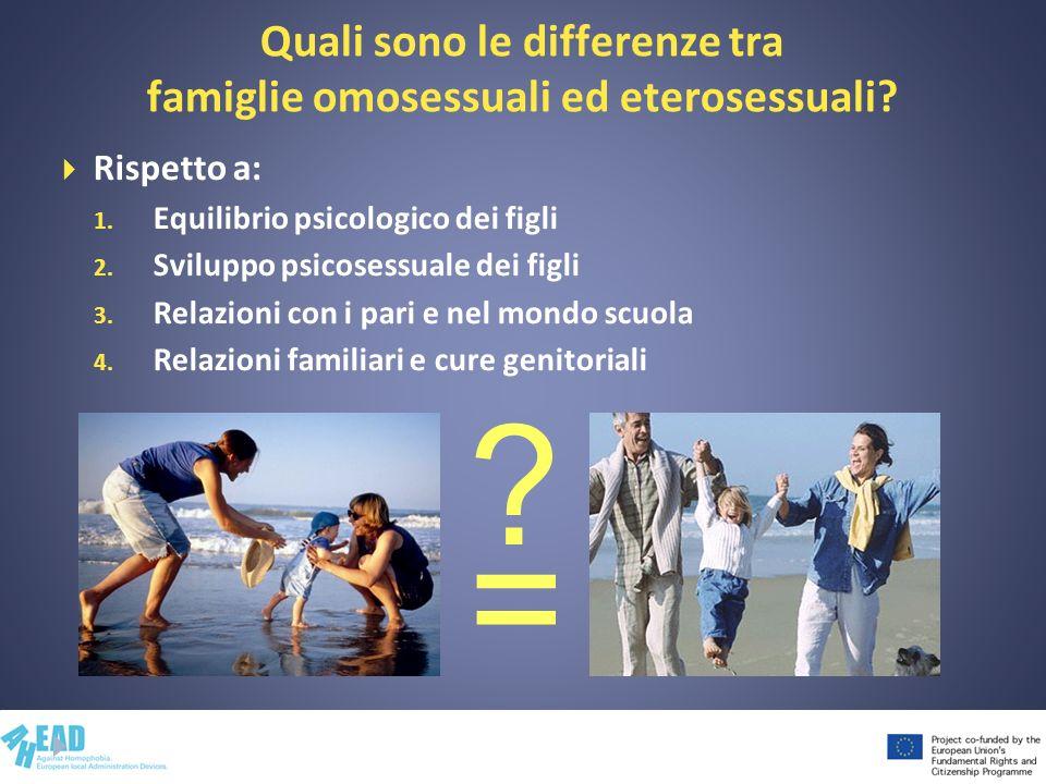Quali sono le differenze tra famiglie omosessuali ed eterosessuali