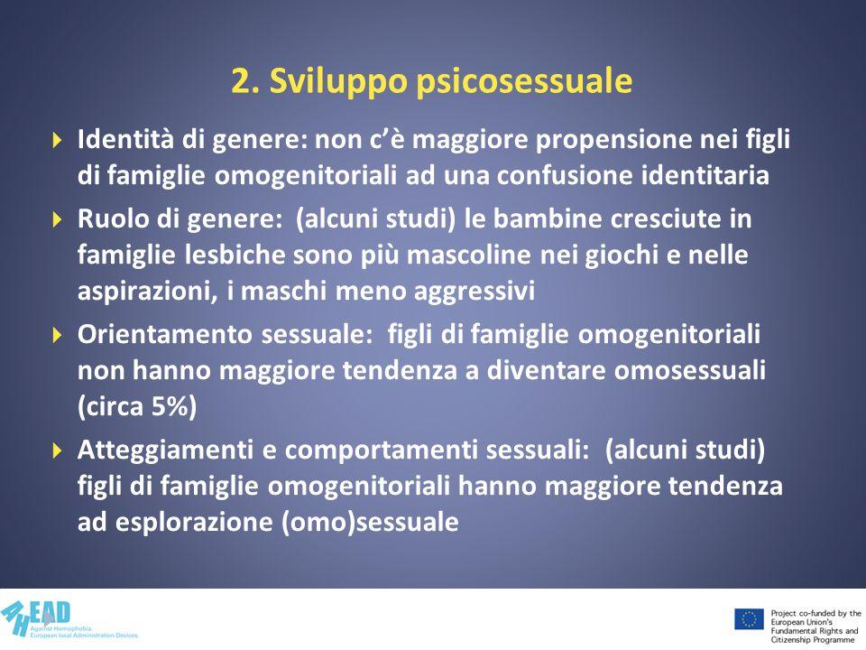 2. Sviluppo psicosessuale