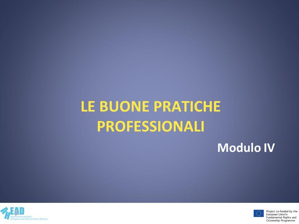 Le buone pratiche professionali