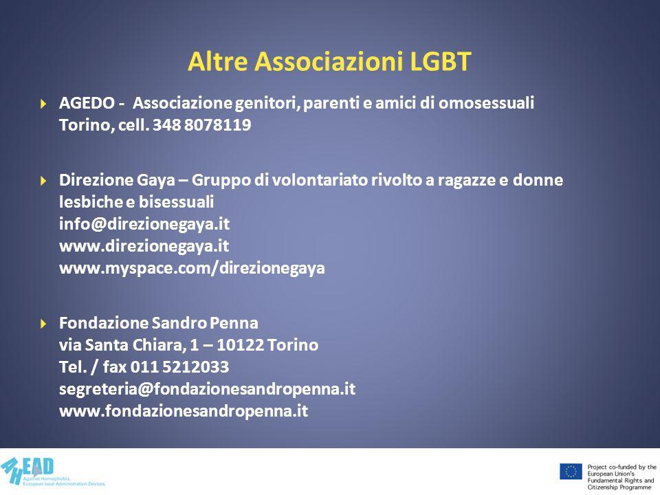 Altre Associazioni LGBT