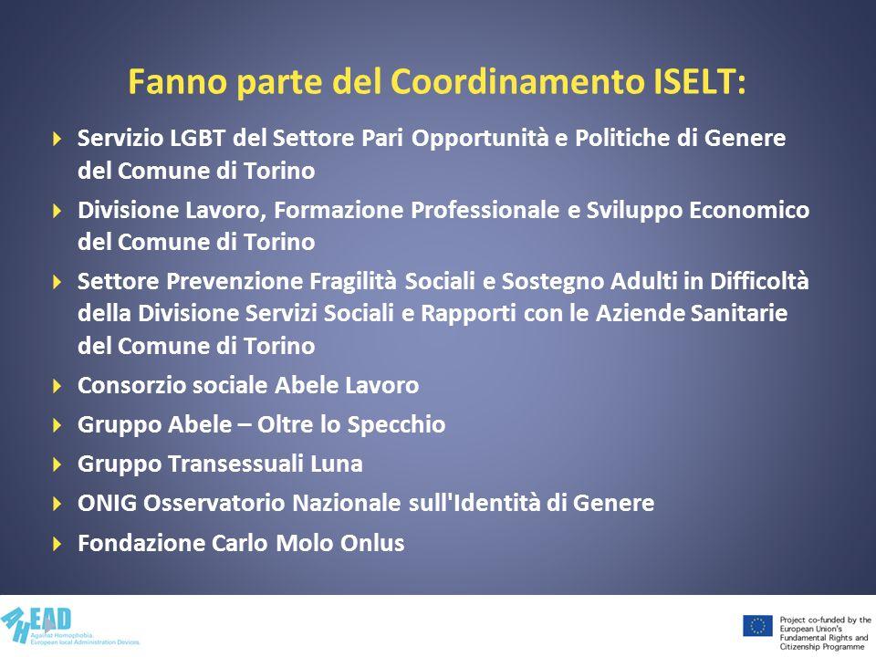 Fanno parte del Coordinamento ISELT: