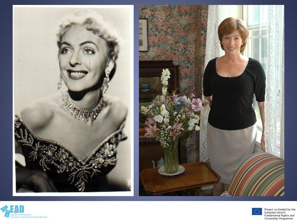 Commenta le foto e descrivi brevemente le vite di Christine Jorgersen e Lynn Conway.