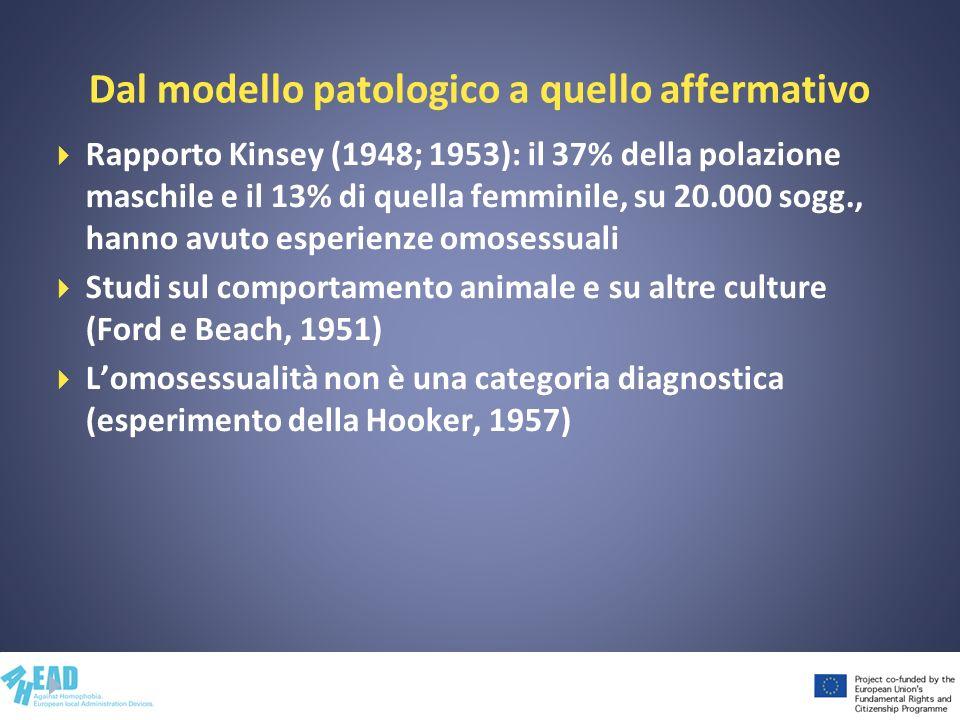 Dal modello patologico a quello affermativo