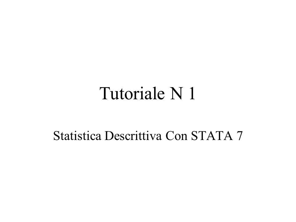 Statistica Descrittiva Con STATA 7