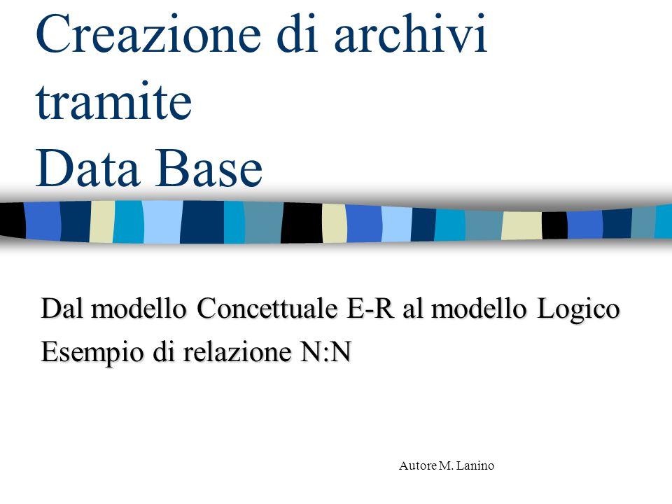 Creazione di archivi tramite Data Base