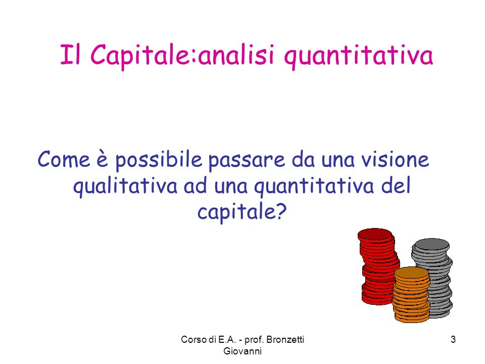 Il Capitale:analisi quantitativa