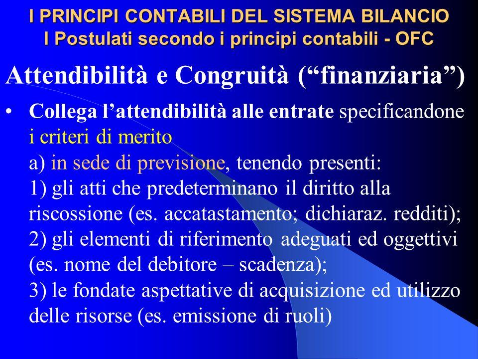 Attendibilità e Congruità ( finanziaria )
