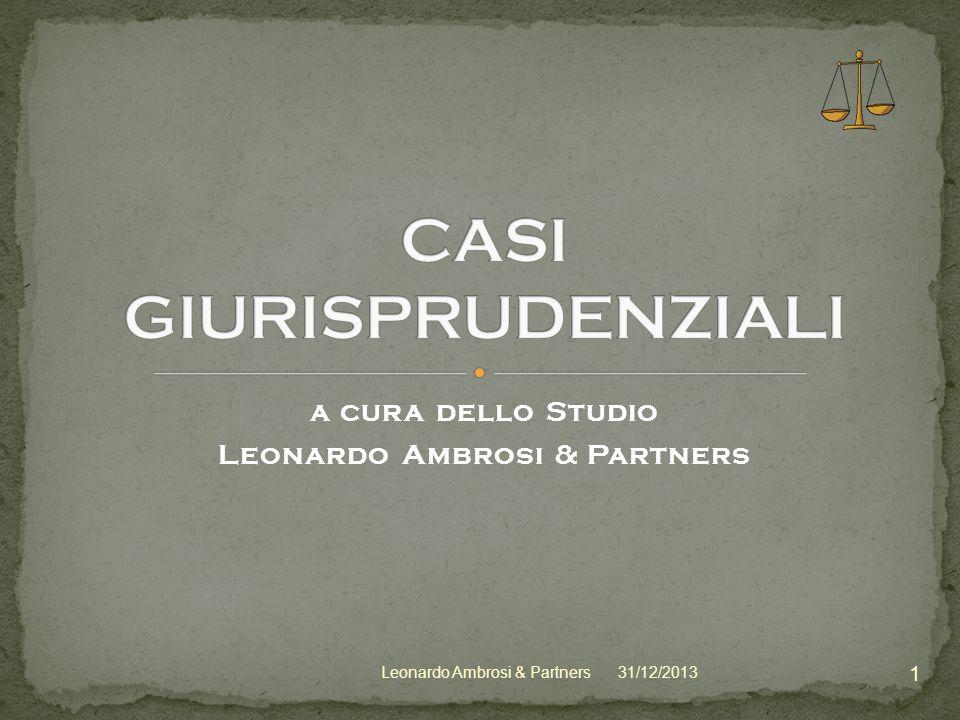 CASI GIURISPRUDENZIALI