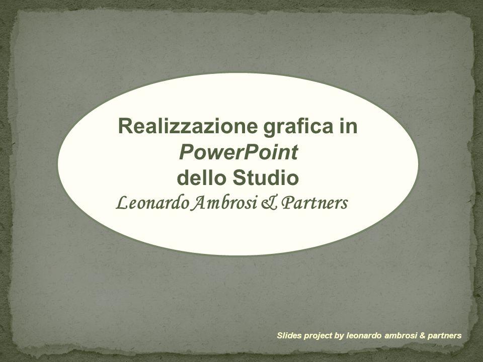 Realizzazione grafica in PowerPoint