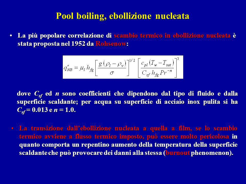 Pool boiling, ebollizione nucleata